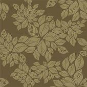 Seamless Green Leaves Pattern.eps