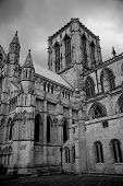 York Minster In Black And White