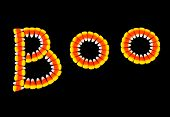 Halloween Background ~ Candy Corn Boo~ Letters