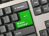 Keyboard - Green Key Make Money