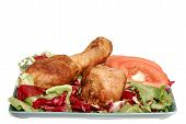Afternoon Snack, Salad With Drumsticks