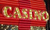 Red neon casino sign