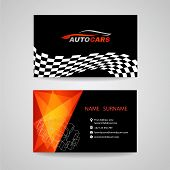 Business Card Vector Design For Transportation Car Racing Sport And Car Wash Or Auto Car Or Engineer poster