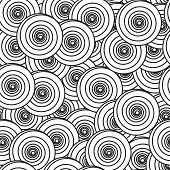 Abstract Background With Spiral Circles