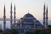 Main Mosque Of Istanbul - Sultan Ahmet Camii (Blue Mosque) At Ea