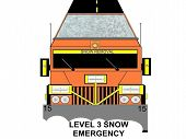 Snow and Ice Removal Weather Advisory Truck