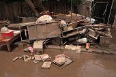 Brisbane, Australia - Jan 14 : Flood  Brisbane Fairfield Area Belongings Thrown Out January 14, 2011