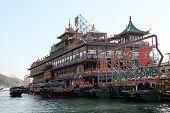 Floating Restaurant in Hong Kong