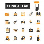 ������, ������: clinical lab icons clinical lab logo hospital icons vector hospital flat illustration concept ho