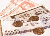 Banknotes Vintage poster