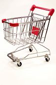 Shopping Trolley On White Background 10