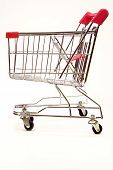 Shopping Trolley On White Background 7