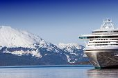 Docked Alaskan cruise ship