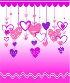 Abstract Valentines Day design with Heart