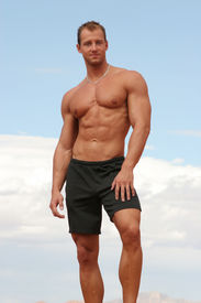 foto of body builder  - Athletic healthy male - JPG