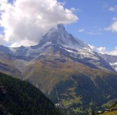 Matterhorn In Clouds