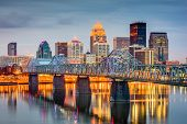 Louisville, Kentucky, USA skyline on the river. poster