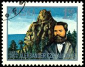 Vintage Postage Stamp. Aleksander Czekanovski.