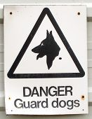 Guard Dogs Warning Sign