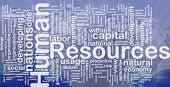 Konzept Wordcloud Hintergrund Human resources international