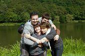 Happy family .