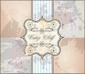 Elegant Vintage Frame with Grunge style background and decorated label with space for your text.