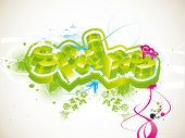 vector graffiti symbol of the springtime