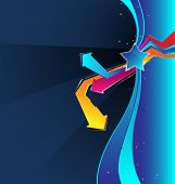 vector background with an abstract design elements