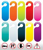 Colored Templates for Do not Disturb Signs, vector for your text
