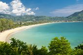 A view of Kamala beach on the exotic island of Phuket in Thailand