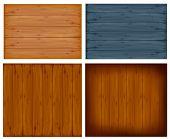 Conjunto con paneles de pared.  Ilustración de Vector
