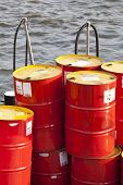image of reprocess  - Petrol Barrel on the water - JPG
