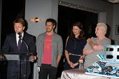 LOS ANGELES - MAY 17:  Brad Bell, Scott Clifton, Heather Tom, Susan Flannery at the Bold & Beautiful