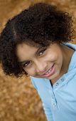 Pretty Biracial Child