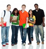 stock photo of student  - Multicultural College students - JPG