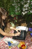 Young Lady On Laptop 2