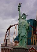 Roller Coaster Amid Lady Liberty