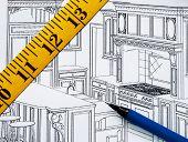 Planung einer Renovierung in der Küche mit dem Grundriss