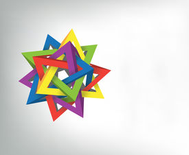 picture of tetrahedron  - five tetrahedrons - JPG