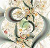 elegant abstract fractal background
