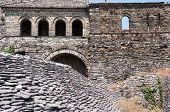 wall in the Citadel of Gjirokaster also known as the