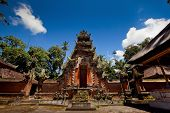 picture of saraswati  - Ancient temple Pura Desa at the village near Ubud on Bali - JPG