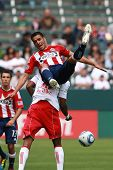 CARSON, CA. - APRIL 10: Chivas USA D Michael Umana #4 during the Chivas USA vs New York Red Bulls ma