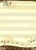 Music notebook template