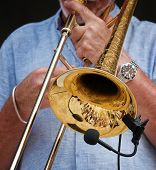 Man Playing With The Saxophone, Hands Fragment, Artistic And Creative Photo Of Sax Instrument.musici poster