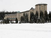 Chateau Lake Louise In Winter