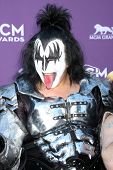 LAS VEGAS - APR 1:  Gene Simmons arrives at the 2012 Academy of Country Music Awards at MGM Grand Garden Arena on April 1, 2012 in Las Vegas, NV.