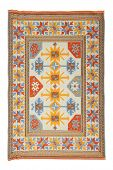 stock photo of tabriz  - Arabian silk carpet - JPG