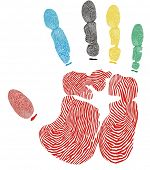 vector handprint
