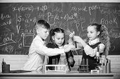 Students Do Biology Experiments With Microscope. Chemistry Microscope. Lab Microscope. Childrens Day poster